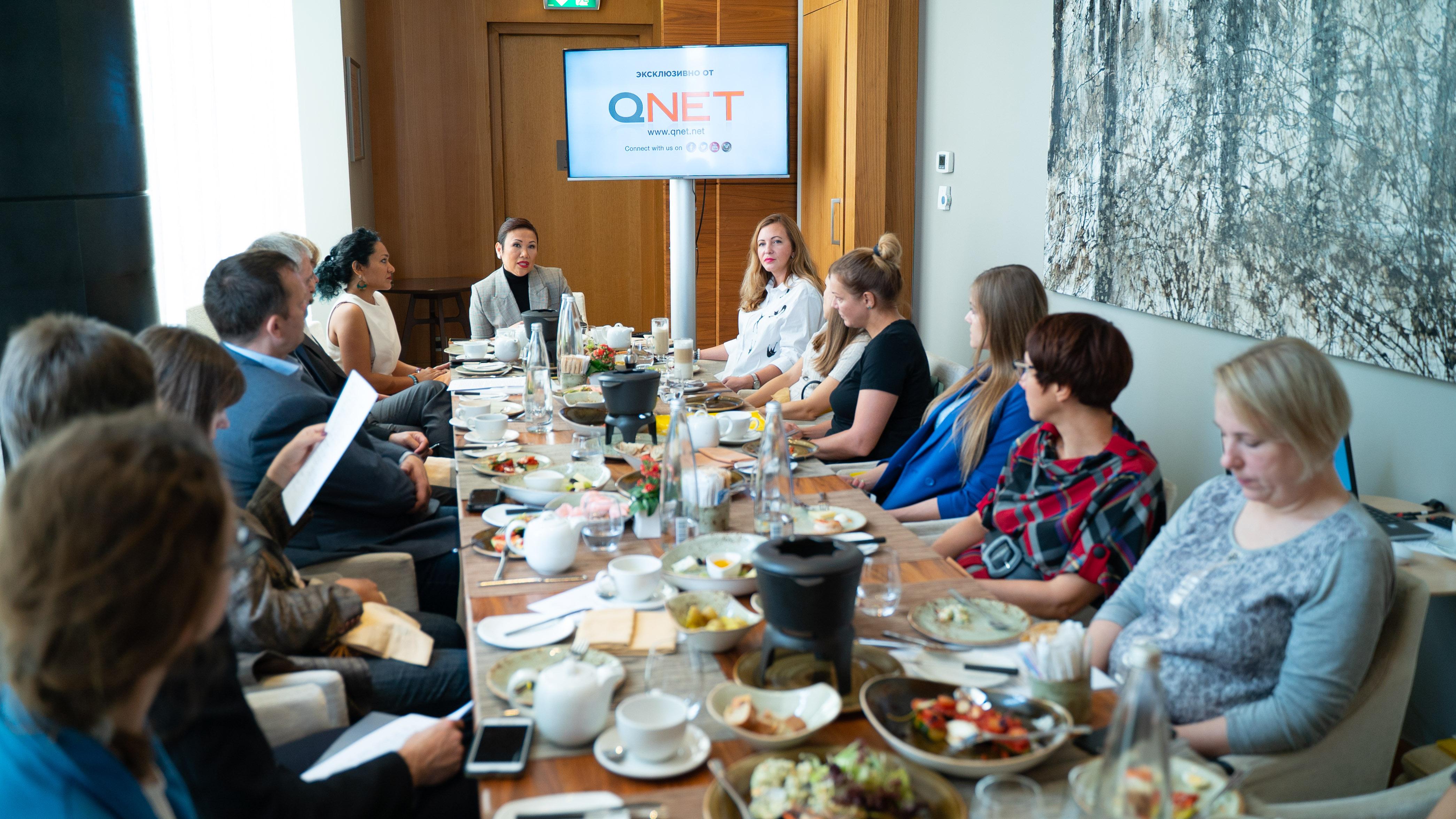 Новый гендиректор QNET Малу Калуза впервые посетила Россию