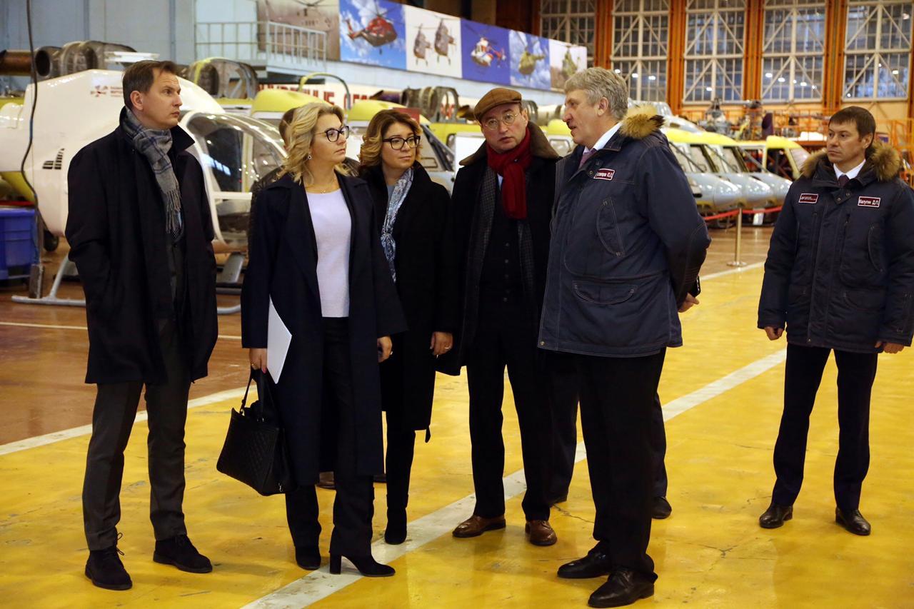 Делегация Новикомбанка посетила Казанский вертолетный завод