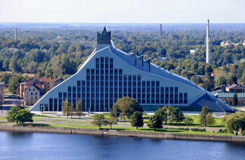 2014 год – Национальная библиотека Латвии в Риге